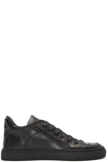 MM6 Maison Margiela - Black Leather Sneakers