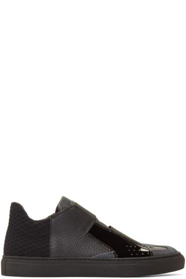 MM6 Maison Margiela - Black Strap Sneakers