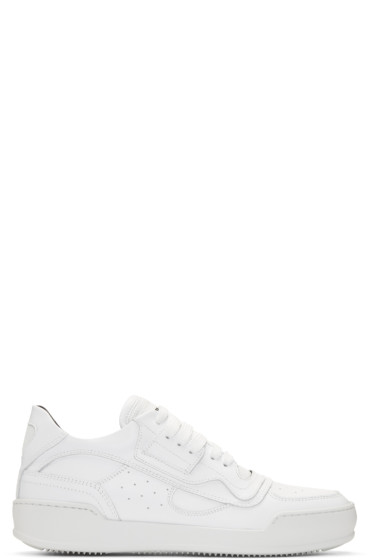 MM6 Maison Margiela - White Lace-Up Sneakers