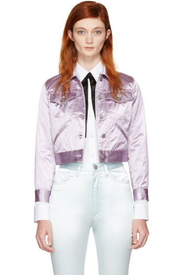 Marc Jacobs - Purple Classic Satin Jacket