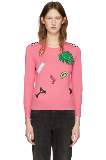 Marc Jacobs - Pink Embroidered Wool Pullover