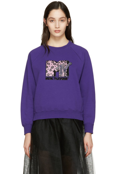 Marc Jacobs - Purple Embroidered MTV Pullover