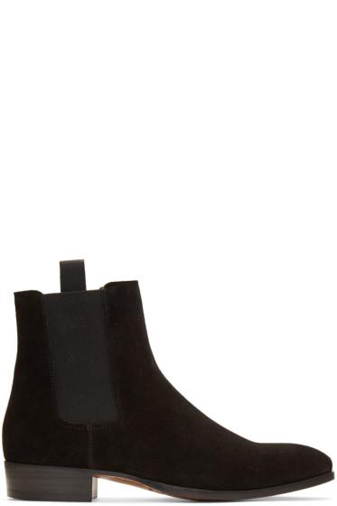 Marc Jacobs - ブラック スエード チェルシー ブーツ