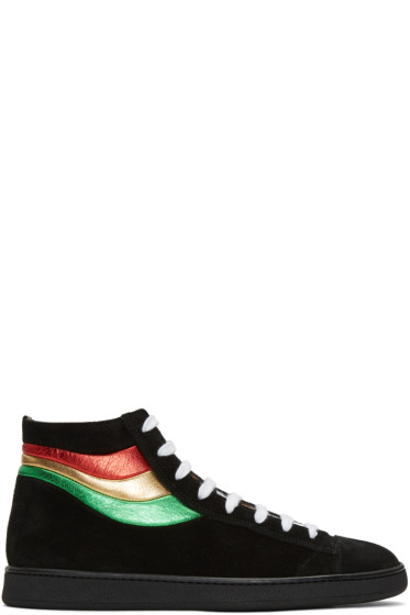 Marc Jacobs - Black Stripes High-Top Sneakers