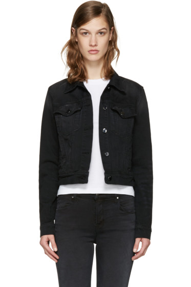 J Brand - Black Denim Harlow Trucker Jacket