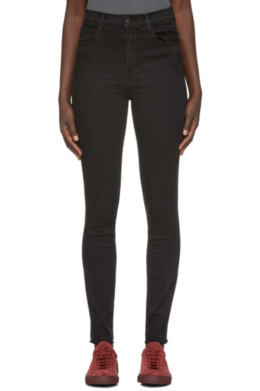 J Brand - Black High-Rise Carolina Jeans