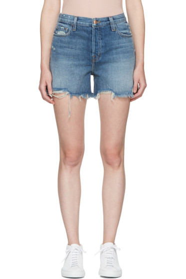 J Brand - Blue Denim Ivy High-Rise Shorts