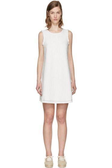 T by Alexander Wang - White Cotton Burlap Dress