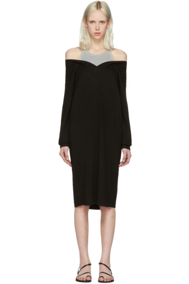 T by Alexander Wang - Black Merino Layered Dress