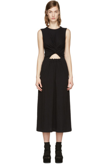 T by Alexander Wang - Black Front Twist Dress