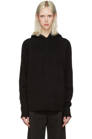 T by Alexander Wang - Black Wool & Cashmere Hoodie