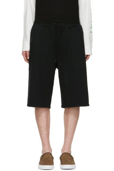 Robert Geller - Black Sweat Shorts