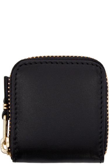 Comme des Garçons Wallets - Black Small Leather Zip Around Pouch