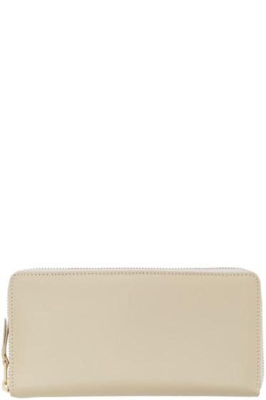 Comme des Garçons Wallets - Off-White Leather Continental Wallet