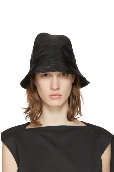 Rick Owens - SSENSE Exclusive Black Bucket Hat