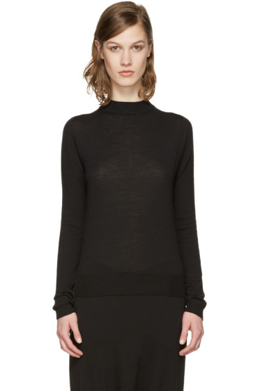 Rick Owens - Black Biker Lupetto Sweater