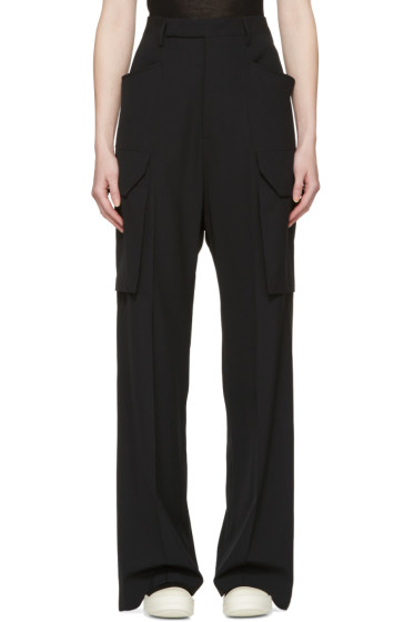 Rick Owens - Black Tailored Cargo Trousers