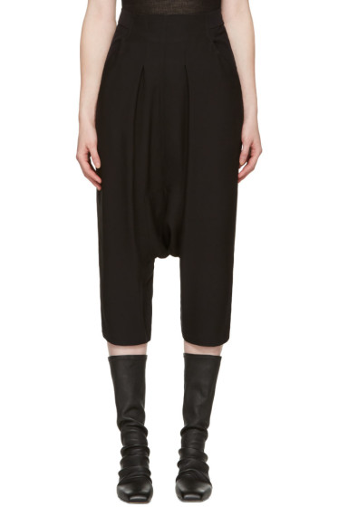 Rick Owens - Black Creatch Cropped Trousers