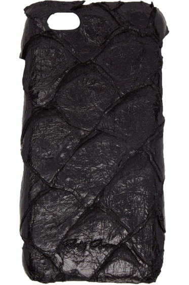 Rick Owens - Black Pirarucu Fish Leather iPhone 6 Case