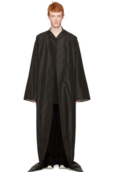 Rick Owens - Black Long Beach Coat