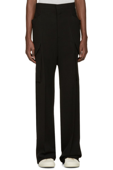 Rick Owens - Black Tailored Flat Cargo Trousers