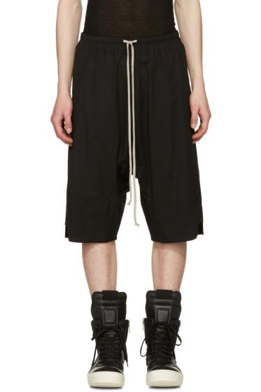 Rick Owens - Black Basket Swinger Shorts
