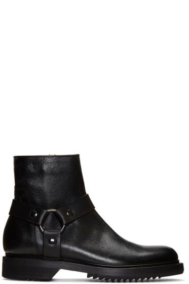 Rick Owens - Black Harness Creeper Boots