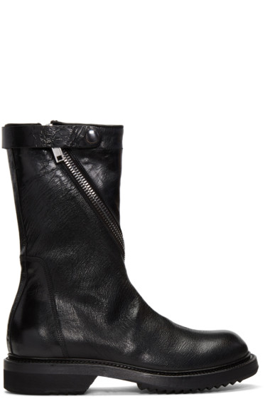 Rick Owens - Black Limo Boots