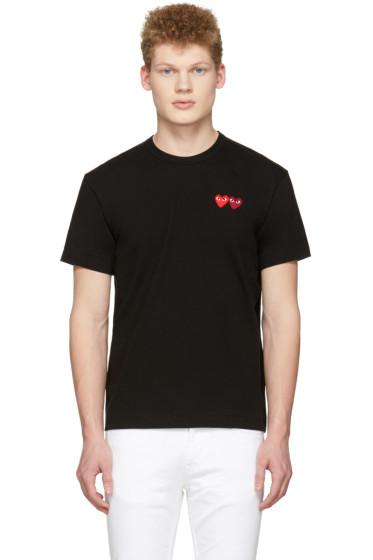 Comme des Garçons Play - Black Double Hearts T-Shirt