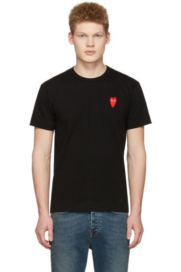 Comme des Garçons Play - Black Long Heart Face T-Shirt