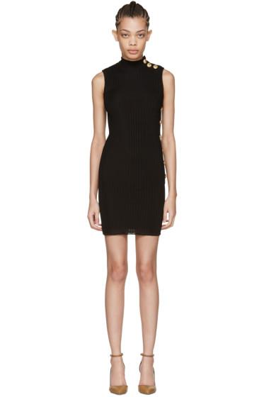 Balmain - ブラック ノースリーブ タートルネック ドレス
