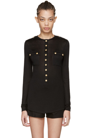 Balmain - Black Pockets Pullover