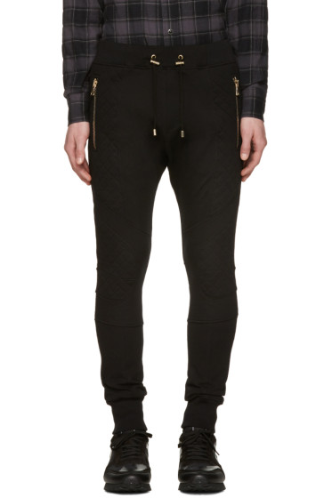 Balmain - Black Diamond Lacing Lounge Pants