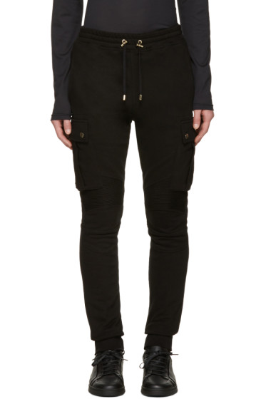 Balmain - Black Cargo Lounge Pants