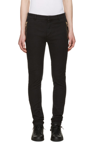 Balmain - Black Slim Trousers