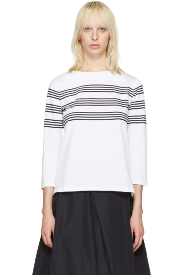 A.P.C. - White Striped Re T-Shirt