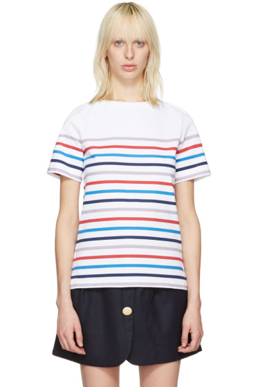 A.P.C. - White Striped Yoyogi T-Shirt