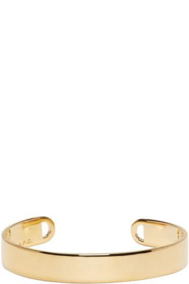 A.P.C. - Gold Chester Cuff Bracelet
