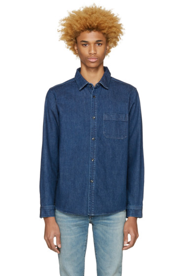 A.P.C. - Blue Denim Trevor Shirt