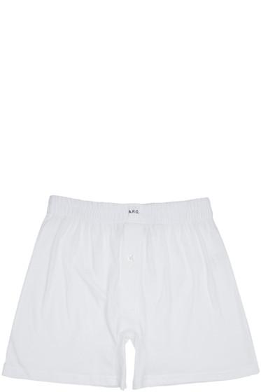 A.P.C. - White Cabourg Boxers