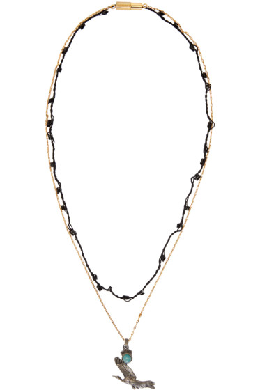 Lanvin - Gold & Silver Bird Necklace