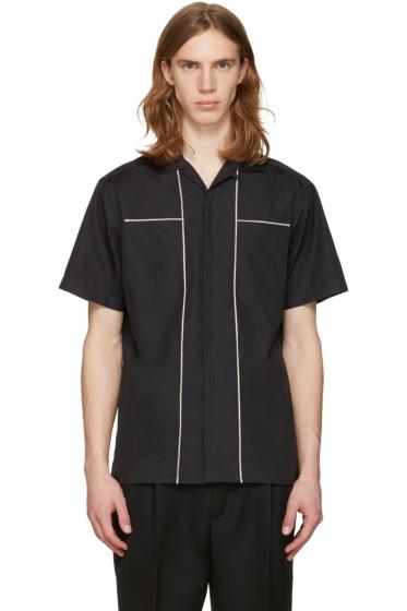 Lanvin - ブラック コントラスト シーム シャツ
