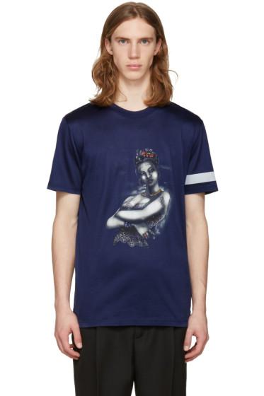 Lanvin - ブルー タトゥー T シャツ