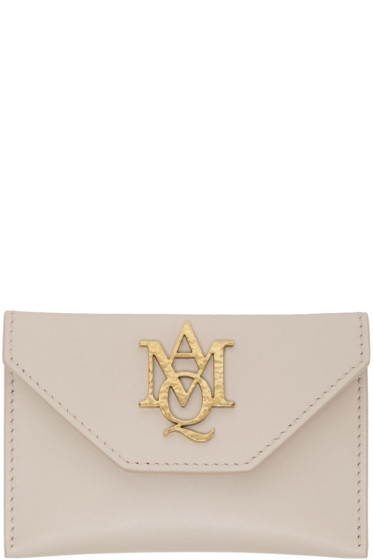 Alexander McQueen - Pink Insignia Envelope Card Holder