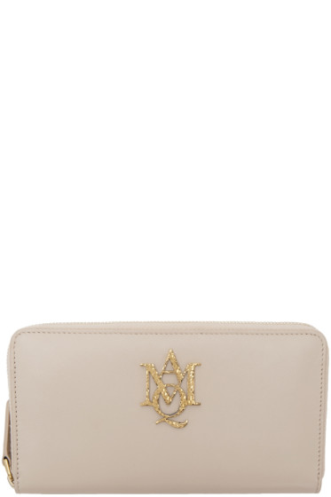 Alexander McQueen - Pink Insignia Zip Around Wallet