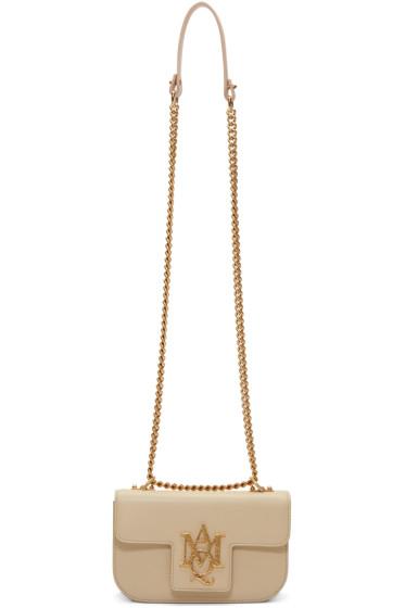 Alexander McQueen - Pink Small Insignia Chain Satchel