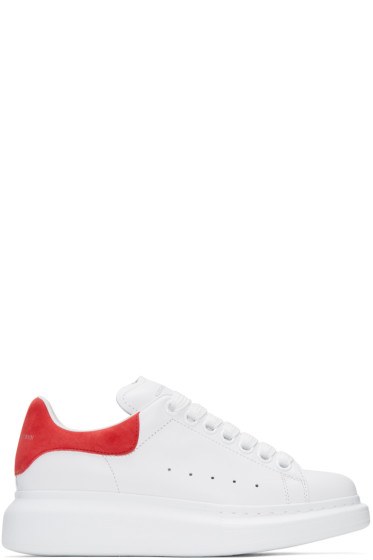 Alexander McQueen - White & Red Oversized Sneakers