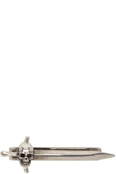 Alexander McQueen - シルバー スウォード スカル タイ バー