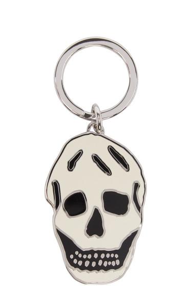 Alexander McQueen - White & Black Skull Keychain