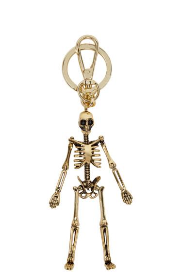 Alexander McQueen - Gold Skeleton Keychain